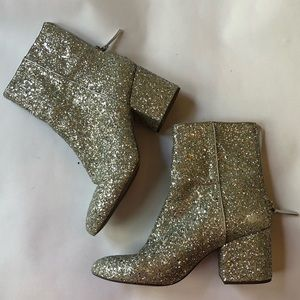 J crew glitter ankle boots size 9.5